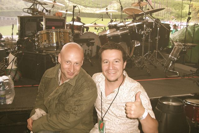Myself and Ged Lynch (Drummer for Peter Gabriel)